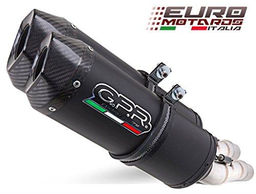 Ducati Monster 1100 2009-2010 GPR Exhaust Dual Silencers Ghisa Evo Homologated