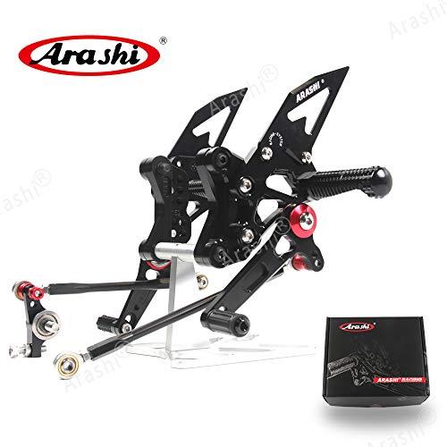 Arashi Version 20 Rearsets for DUCATI 1098 1098S 2007 2008848 EVO 2011 2012 2013 Motorcycle Accessories Adjustable Footrests Foot Peg Rear Sets 1098 S 848EVO Black 07 08 11 12 13