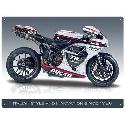 Ducati 848 Evo metal sign 400mm x 300mm rh