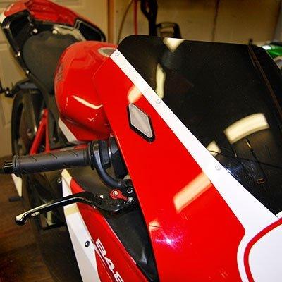 Ducati 848 Mirror Block Off Turn Signals - New Rage Cycles