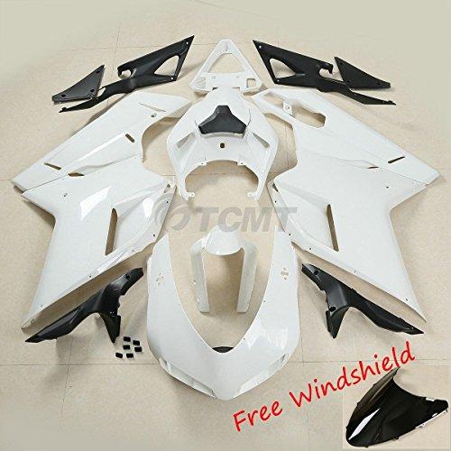 TCMT Unpainted Drilled ABS Bodywork Fairing Kit for Ducati 848 1098 1198 2007-2012