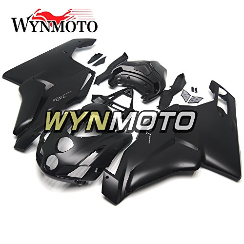 WYNMOTO Pure Matte Black Motorcycle Fairing Kit For Ducati 999 749 03 04 2003 2004 ABS Injection Plastic Sportbike Cowling