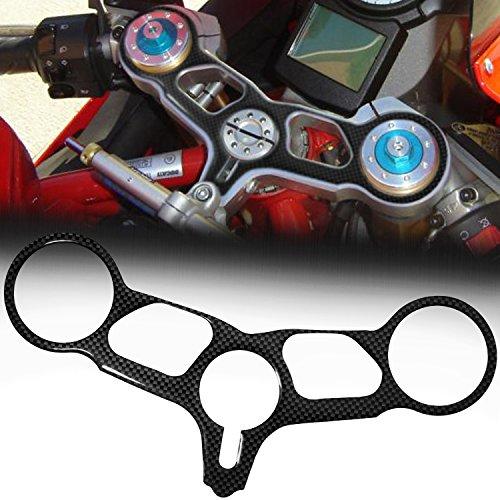 Handle Yoke Cover Gel Protector Sticker for 03-07 Ducati 749999 Carbon Fiber Look