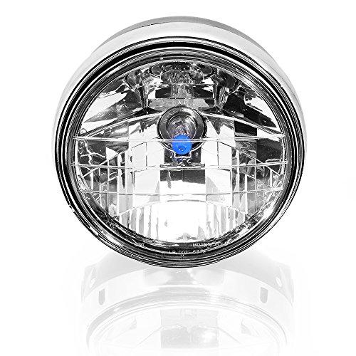 7 35W Amber Black Clear Lens HiLo Beam Headlight Headlamp For Harley Aprilia BMW Ducati Motorcycle