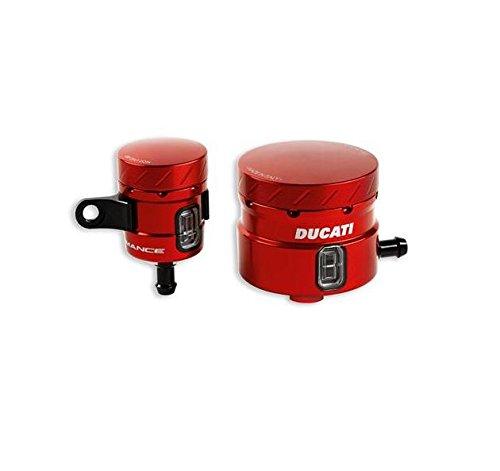 Ducati Performance Superbike Billet Aluminum Brake Clutch Fluid Reservoirs Red 96180031A