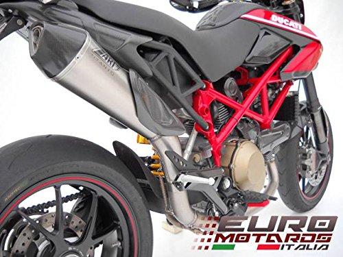 Ducati Hypermotard 796 Zard Exhaust Scudo Full 21 System Steel Carbon Cap