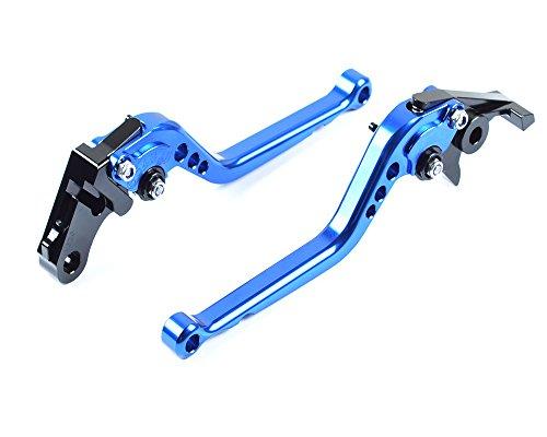 Tencasi Blue CNC Long Adjustable Brake Clutch Lever for Ducati 400 MONSTER 2004-2007 620 MONSTER  620 MTS 2003-2006 695 MONSTER 2007-2008 696 MONSTER 2009-2014