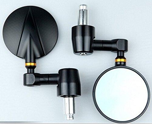 One pair of Universal CNC Billet Bar End Mirrors for DUCATIHONDASUZUKIYAMAHA TRIUMPH with Standard hollow handble bar