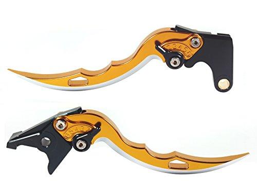 Emotion Sport-Blade-Series Motorcycle Clutch Brake Lever Set for Ducati 695 MONSTER 2007-2008 - Black  Yellow AdjusterLever