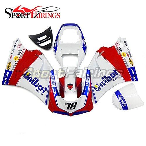 Sportfairings Complete Injection ABS Fairing Kits For DUCATI 996 748 916 998 Biposto 1996-2002 Biposto Motorcycle Body Kits White Red Blue