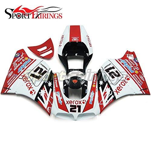 Sportfairings Injection ABS Plastic White Red 21 Fairing Kits For DUCATI 996 748 916 998 Monoposto 1996-1999 2000 2001 2002 Motorbike Bodywork