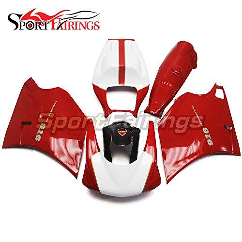 Sportfairings Motorbike Injection Fiberglass Fairing Kits For DUCATI 996 748 916 998 Monoposto 1996 1997 1998 1999 2000 2001 2002 Red White Racing Fairing