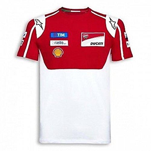 Ducati Moto GP Team 17 Replica Short Sleeve T-Shirt Red White XX-Large