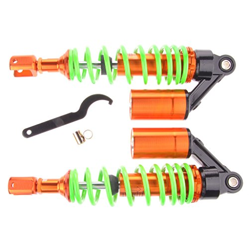 Wotefusi Motorcycle New Pair Green Orange 12 58 320mm Fork Clevis Ends Shock Absorbers Replacement Universal Fit For Honda Suzuki Kawasaki Yamaha Ducati Scooter ATV Quad Dirt Sport Bike Go Kart