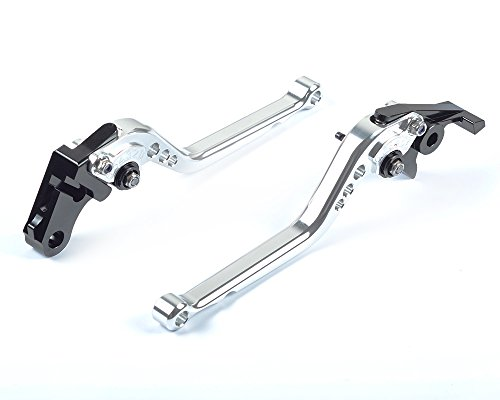 Tencasi Silver CNC Long Adjustable Brake Clutch Lever for Ducati GT 1000 2006-2010 PAUL SMART LE 2006 S2R 1000 2006-2008
