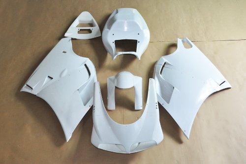 Wotefusi Brand New Motorcycle ABS Plastic Unpainted Polished Needed Injection Mold Bodywork Fairing Kit Set For 1994 1995 1996 1997 1998 1999 2000 2001 2002 Ducati 748 916 996 White Base Color One Piece Rear Seat