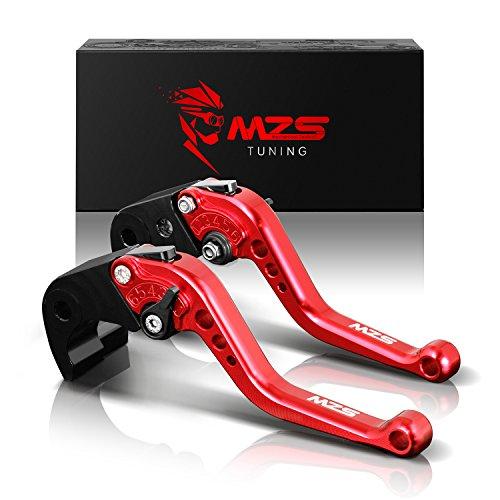 MZS Short Brake Clutch Levers for Ducati 821 MONSTERDarkStripe 2014-2017HYPERMOTARD 821HYPERSTRADA 2013-2015HYPERMOTARD 939Strada 2016-2017Scrambler 2015-2017 Red