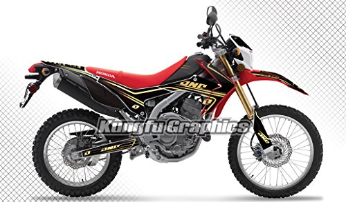 Kungfu Graphics 2012 2013 2014 Honda CRF 250L Complete Graphics Kit Black