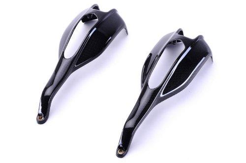 Bestem CBDU-HPMTD-HDBG-M Black Carbon Fiber Handguards for Ducati Hypermotard 796 1100