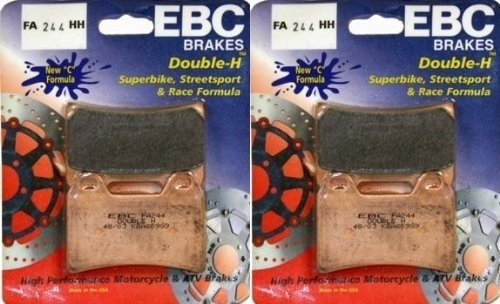 EBC Sintered Double H Front Brake Pads 2 Sets 2010-2015 Ducati Multistrada 1200 S Touring  FA244HH Street Pads