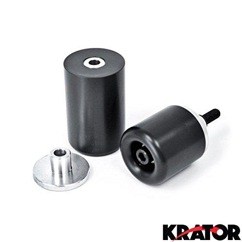 Krator® Kawasaki Z750 Z1000 Zr1000 Black No Cut Frame Sliders (2007-2009)
