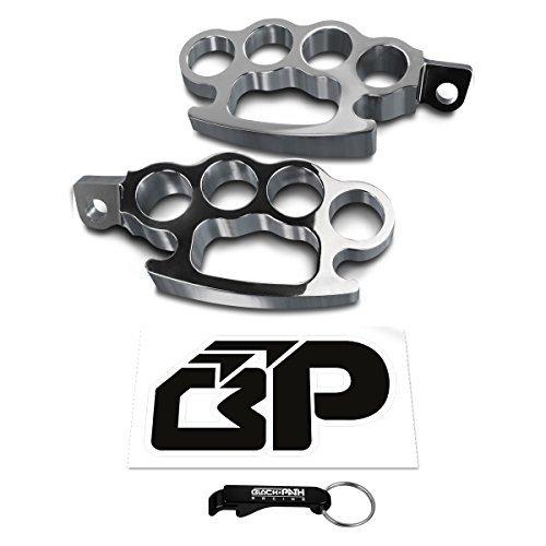 BlackPath - Harley-Davidson Brass Knuckle Foot Peg Kit Touring  Dresser  Softail  V-Rod  Sportster  Dyna Motorcycle Polished T6 Billet