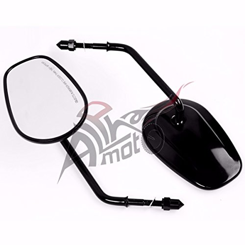 Pair Chrome Rear View Mirrors for Harley Davidson XL1200L XL883 XL883L Sportster Black