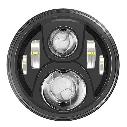7 LED Headlight For Harley Davidson Motorcycle Projector Daymaker HID LED Light Bulb For Jeep Wrangler JK LJ CJ Headlamp Black