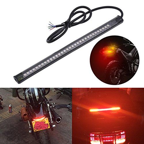 KaTur Motorcycle Harley Davidson Led Light Strip Tail Brake Stop Turn Signal 32-3528 LED 8 License Plate Flexible LED Light