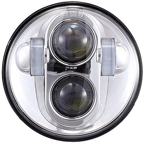 575 inch Daymaker LED Headlight DOT Bulbs Lights Kit for Harley Davidson Dyna Street Bob Super Wide Glide Low Rider Night Rod Train Softail Deuce Custom Sportster Iron 883 Motorcycle Headlamp Chrome