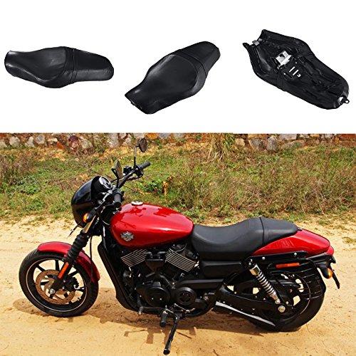 INNOGLOW Motorcycle Driver Passenger Touring Seat for Harley Davidson Iron 883 XL883N