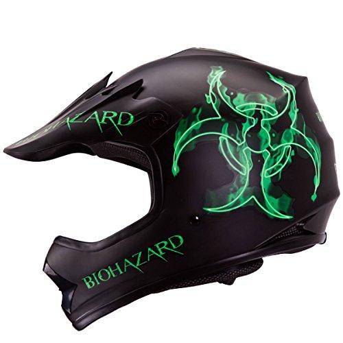 IV2 BIOHAZARD Youth  Kid Size High Performance Motocross ATV Dirt Bike Helmet DOT L