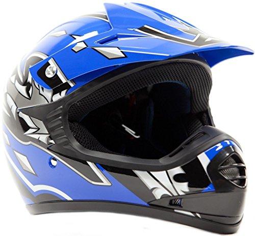 Youth Offroad Helmet DOT Motocross ATV Dirt Bike MX Motorcycle Blue  X-Large
