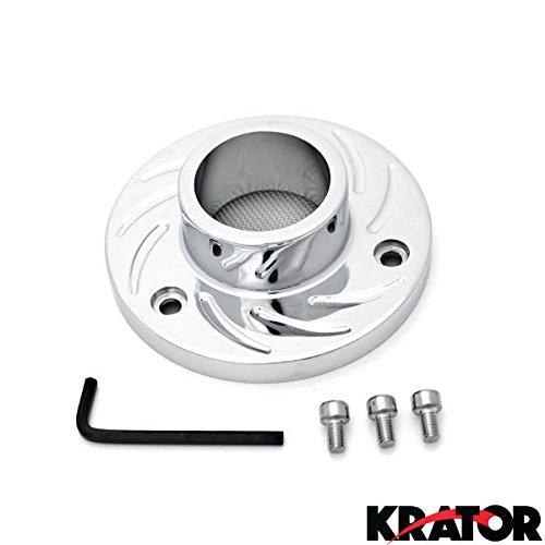 Krator NEW ATV Exhaust Tip Muffler Power Polished Chrome For 2008 Honda Foreman Rubicon 500 FourTrax