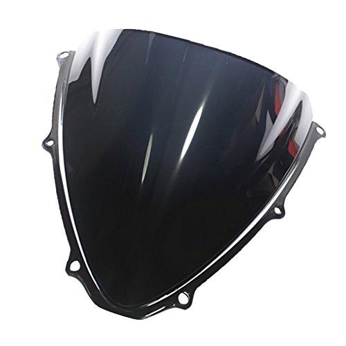 MagiDeal Sport Bike Windshield Windscreen for Suzuki GSXR 600750 2006-2007 K6 - Black