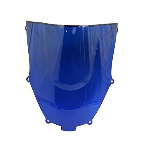 uxcell Blue Plastic Motorcycle Motorbike Windshield Windscreen for Kawasaki Ninja ZX9R 00-03