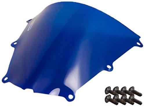 Sportbike Windscreens ADHW-102B Blue Windscreen Honda Cbr 600RR 05-06 With Silver screw kit2 Pack