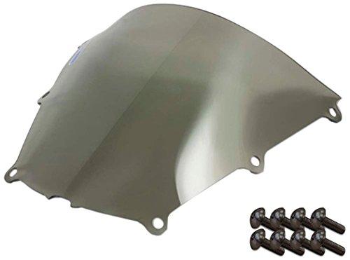 Sportbike Windscreens ADHW-102S Smoke Windscreen Honda Cbr 600RR 05-06 With Silver screw kit2 Pack