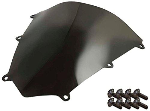 Sportbike Windscreens ADHW-108DS Dark Smoke Windscreen Honda Cbr 600RR 07-12 With Silver screw kit2 Pack
