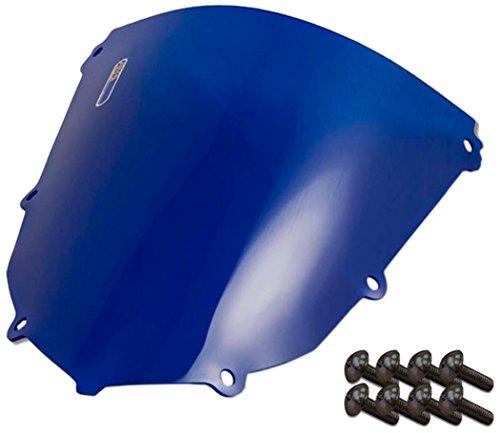 Sportbike Windscreens ADKW-403B Blue Windscreen Kawasaki Zx 10 04-05 With Silver screw kit2 Pack