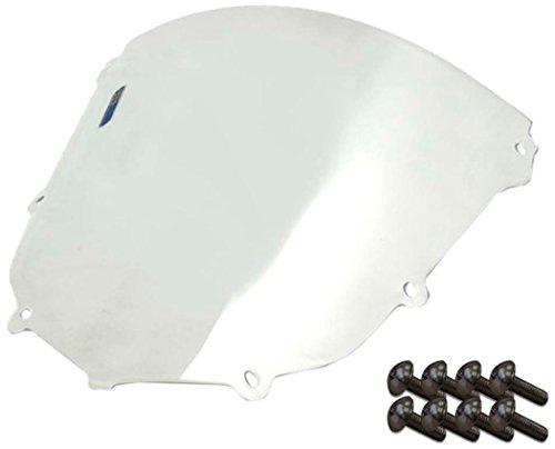 Sportbike Windscreens ADKW-403C Clear Windscreen Kawasaki Zx 10 04-05 With Silver screw kit2 Pack