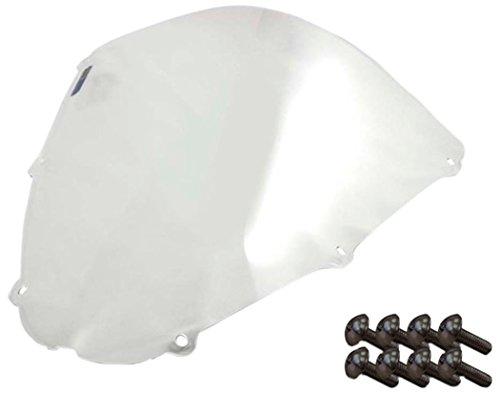 Sportbike Windscreens ADKW-405C Clear Windscreen Kawasaki Zx 636 05-06 Zx 10 06-07 Zx6R 07-08 With Silver screw kit2 Pack