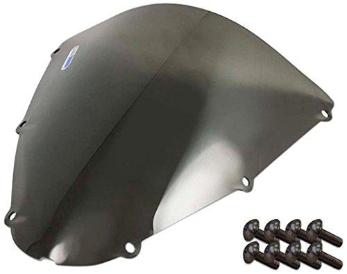 Sportbike Windscreens ADKW-405S Smoke Windscreen Kawasaki Zx 636 05-06 Zx 10 06-07 Zx6R 07-08 With Silver screw kit2 Pack