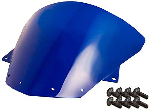 Sportbike Windscreens ADKW-412B Blue Windscreen Kawasaki Zx10 08-10 Zx-6R09-14 With Silver screw kit2 Pack
