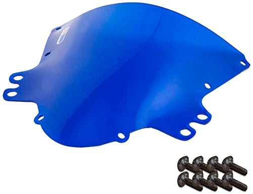 Sportbike Windscreens ADSW-205B Blue Windscreen Suzuki Gsxr 1000 05-06 With Silver screw kit2 Pack