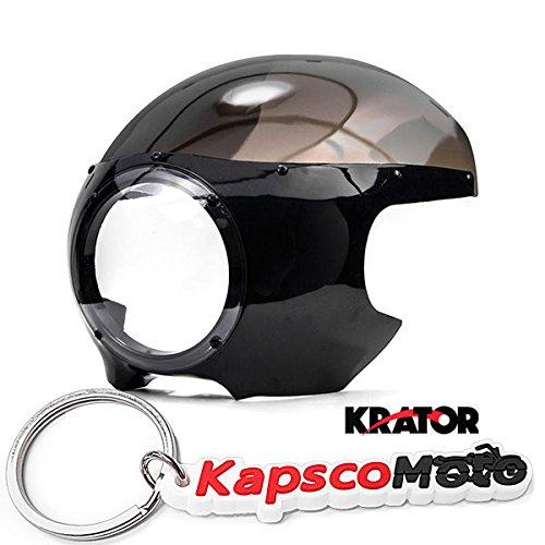 Krator Motorcycle 5-34 Headlight Fairing Screen Black Smoke Retro Cafe Racer Drag  KapscoMoto Keychain