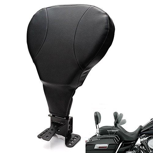 Adjustable Foldable Driver Rider Backrest Pad  Mounting Kit For Harley Touring FLHT FLHR FLHX Street Electra Glide 2009-2017