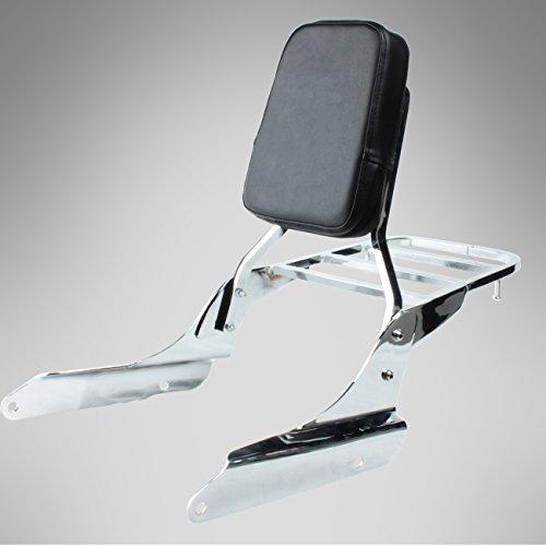 Iglobalbuy Chrome Backrest Sissy Bar With Luggage Rack Backrest Pad For Honda Shadow Vt600c Vlx600 1999-2007