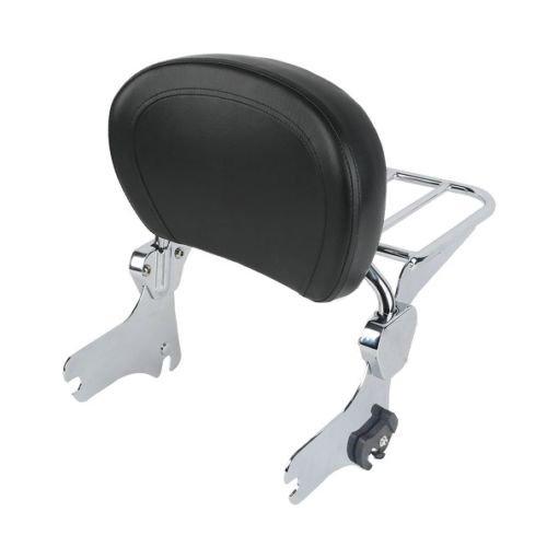BBUT Chrome Backrest Sissy Bar With Luggage Rack For Harley Touring FLHR FLHX FLTR FLHT 1997 1998 1999 2000 2001 2002 2003 2004 2005 2006 2007 2008 2009 2010 2011 2012 2013 2014 2015 2016 2017 2018