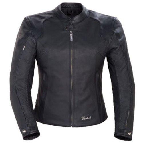 Cortech Lnx Women's Leather Street Motorcycle Jacket - Flat Black / Small